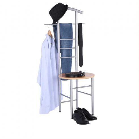 FRANK fém/MDF/bükkfa szobainas és szék